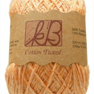 Orange Sorbet Tweed Cotton Artisan Yarn