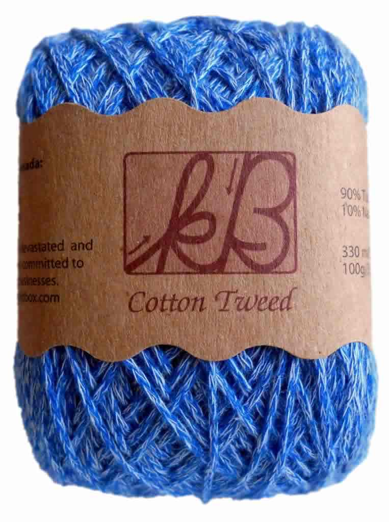 Seraglio Blue Tweed Cotton Artisan Yarn