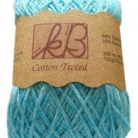 Turkish Blue Tweed Cotton Artisan Yarn
