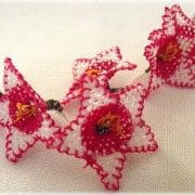 Red Starflower Oya Lace Notions