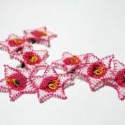 Red Oya Starflower Lace Notion
