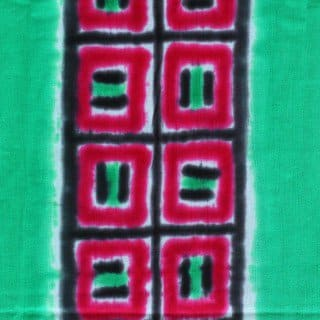 red squares hand dyed fabric