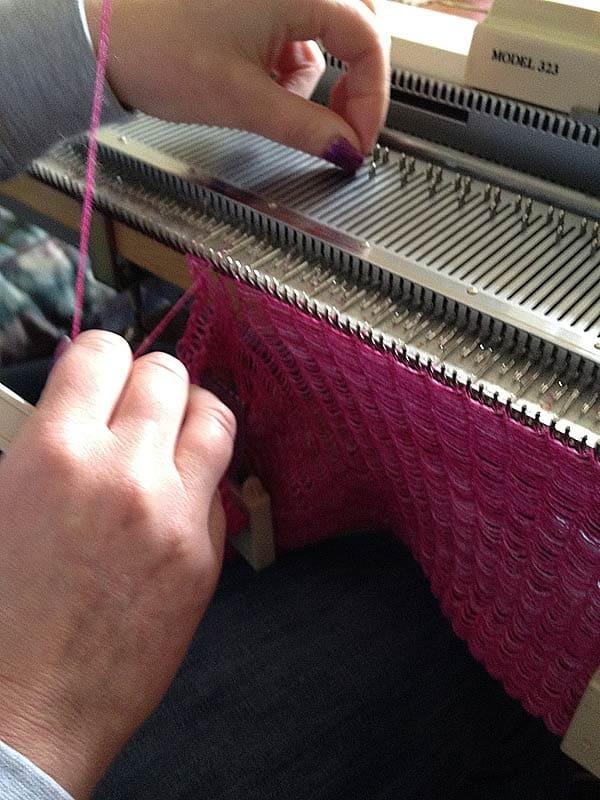 Me, my knitting my knitmaster knitting machines at Xena Knits